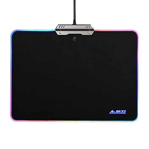 KKmoon AJAZZ RGB Mauspad Harte Gaming Mousepad 9 Beleuchtung Modi ...